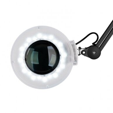 Lempa su padidinamuoju stiklu + stovas S5 LED, juodos sp. 3