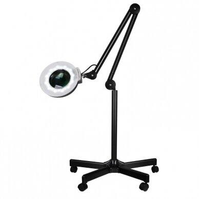 Lempa su padidinamuoju stiklu + stovas S5 LED, juodos sp.