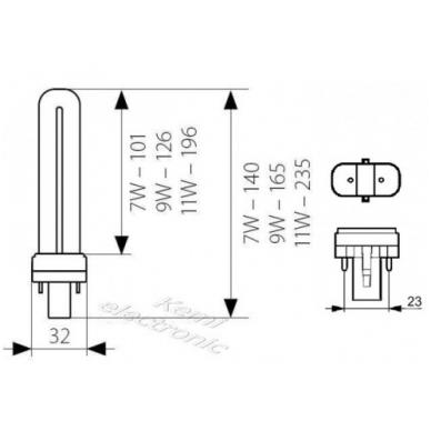 Lemputė UV manikiūro lempai 9W, 1 vnt. 3