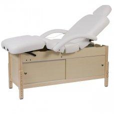 Masažo lova Weelko Caphi, 4 dalių, baltos sp.
