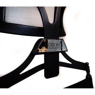 Makiažo kėdė su atrama galvai Osom Professional, juodos spalvos, sulankstoma 3
