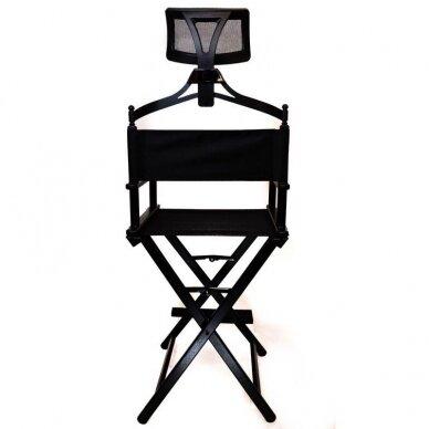 Makiažo kėdė su atrama galvai Osom Professional, juodos spalvos, sulankstoma 4