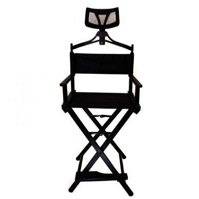 Makiažo kėdė su atrama galvai Osom Professional, juodos spalvos, sulankstoma 5