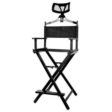 Makiažo kėdė su atrama galvai Osom Professional, juodos spalvos, sulankstoma 6