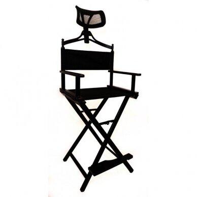 Makiažo kėdė su atrama galvai Osom Professional, juodos spalvos, sulankstoma