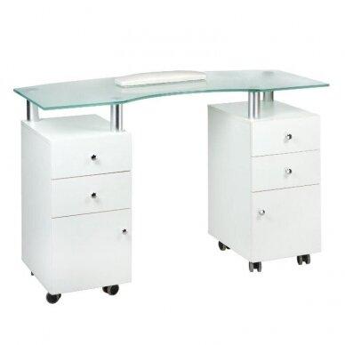 Manikiūro stalas BD-3453, baltos sp.