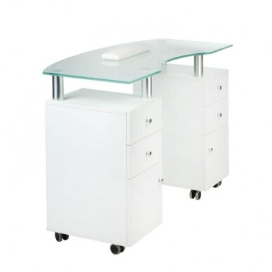 Manikiūro stalas BD-3453, baltos sp. 2