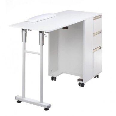 Funkcionalus manikiūro stalas/spintelė BD-3802, baltos sp. 4