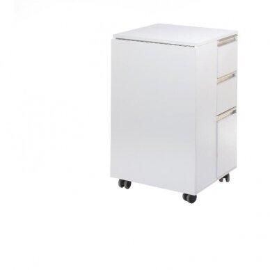 Funkcionalus manikiūro stalas/spintelė BD-3802, baltos sp. 2
