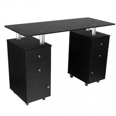 Manikiūro stalas GLASS 317, juodos sp.