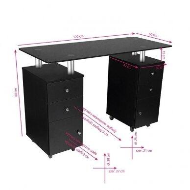 Manikiūro stalas GLASS 317, juodos sp. 2