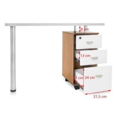 Manikiūro stalas su 3 stalčiais 106678 3
