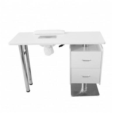 Manikiūro stalas su dulkių ištraukėju Weelko Hale, baltos sp. 2