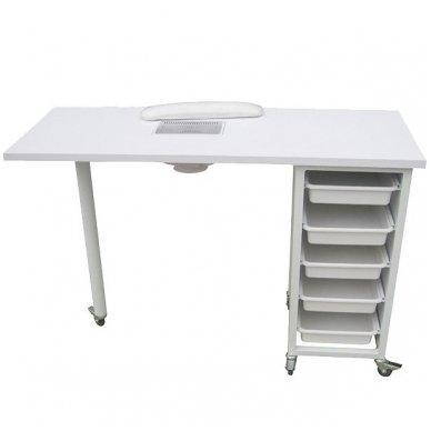 Manikiūro stalas su dulkių ištraukėju Weelko Ulnar, baltos sp.