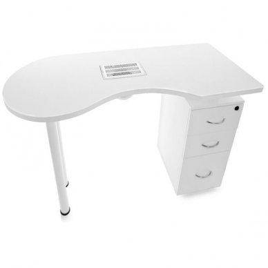 Manikiūro stalas su dulkių sutraukėju, baltos spalvos 3