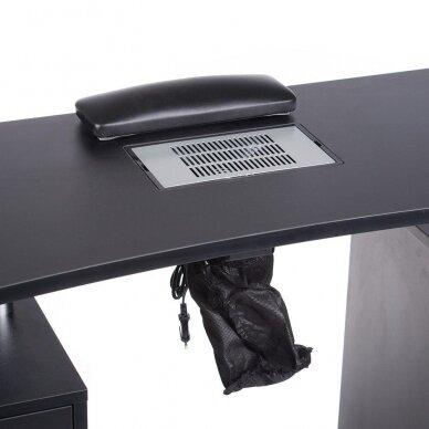 Manikiūro stalas su dulkių sutraukėju BD-3425, juodos sp. 3