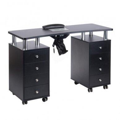 Manikiūro stalas su dulkių sutraukėju BD-3425, juodos sp.