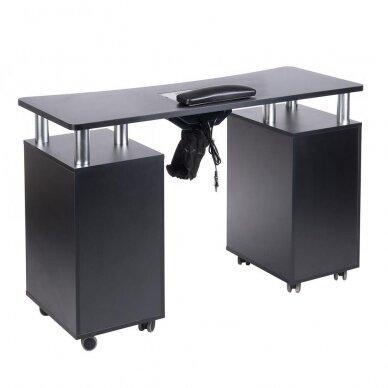 Manikiūro stalas su dulkių sutraukėju BD-3425, juodos sp. 2