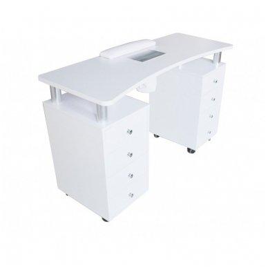 Manikiūro stalas su dulkių ištraukėju Weelko Distal, baltos sp. 2