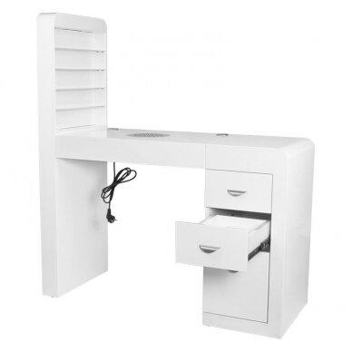 Manikiūro stalas su lentyna ir sutraukėju 2