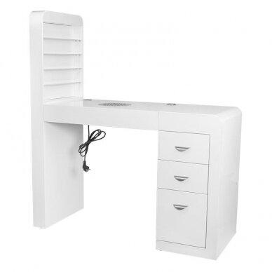 Manikiūro stalas su lentyna ir sutraukėju