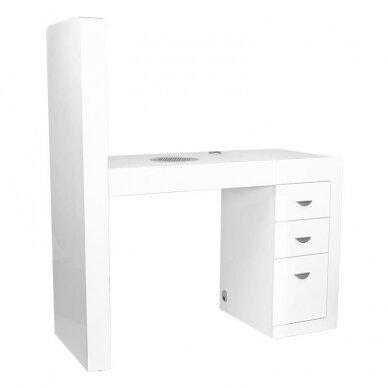 Manikiūro stalas su lentyna ir sutraukėju 3