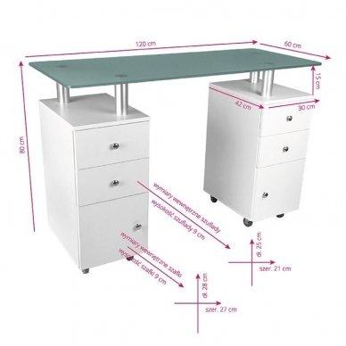 Manikiūros stalas GLASS 317 5
