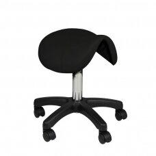 Meistro kėdutė, balno formos AM-301, juodos sp.
