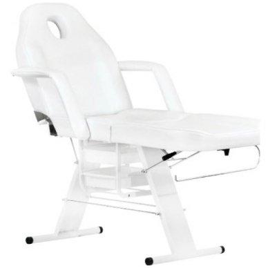 Mechaninis kosmetologinis krėslas A202, baltas 2