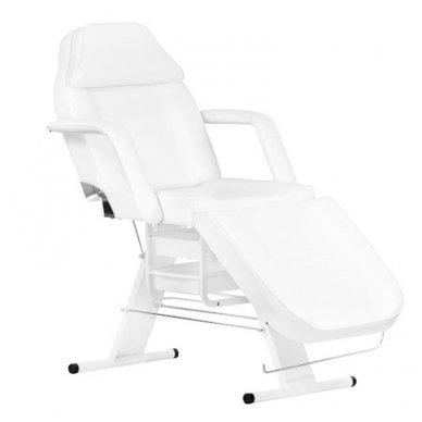 Mechaninis kosmetologinis krėslas A202, baltas
