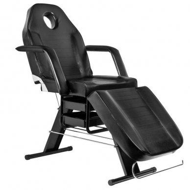 Mechaninis kosmetologinis krėslas A202, juodas 2
