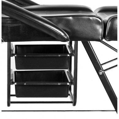 Mechaninis kosmetologinis krėslas A202, juodas 6