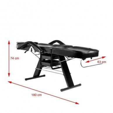 Mechaninis kosmetologinis krėslas A202, juodas 7