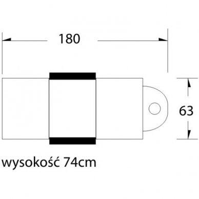Mechaninis kosmetologinis krėslas A202, juodas 8