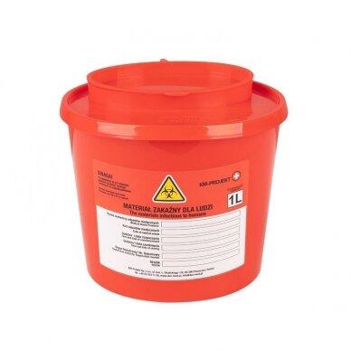 Medicininių atliekų konteineris 1,0L