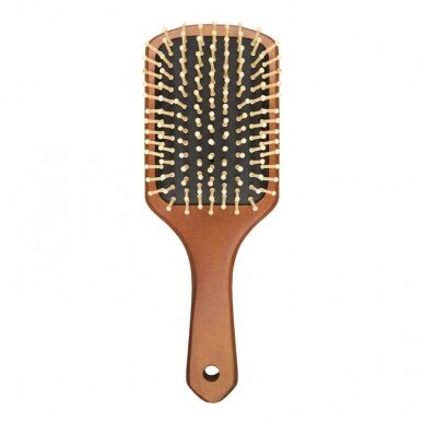 Medinis plaukų šepetys