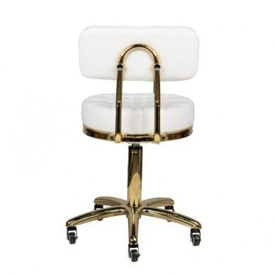 Meistro kėdė GOLD AM-961, baltos sp. 4