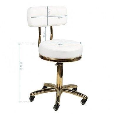 Meistro kėdė GOLD AM-961, baltos sp. 5