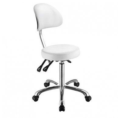 Meistro kėdė Weelko Comfort, apvalios formos, baltos sp.