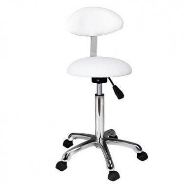 Meistro kėdė Weelko PRACTI+ , pusrutulio formos su ovaliu atlošu, baltos sp.