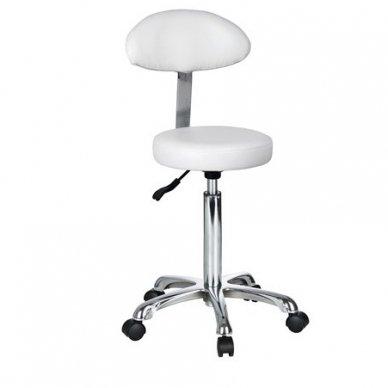 Meistro kėdė Weelkoi FAST+, apvalios sedynės ir ovalaus atlošo, baltos sp.