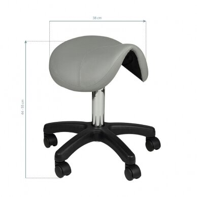 Meistro kėdutė AM-301, balno formos, pilkos sp. 2