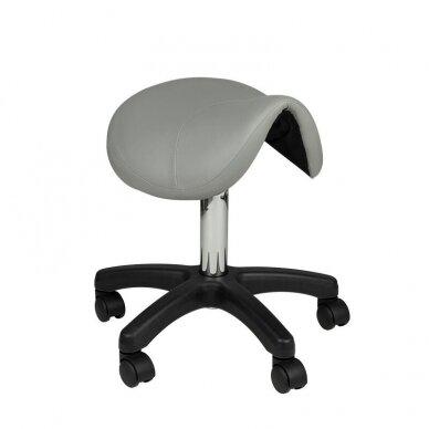 Meistro kėdutė AM-301, balno formos, pilkos sp.