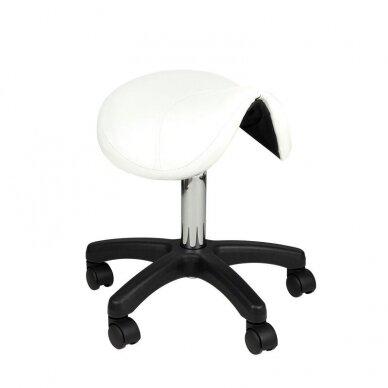 Meistro kėdutė, balno formos AM-301, baltos sp.