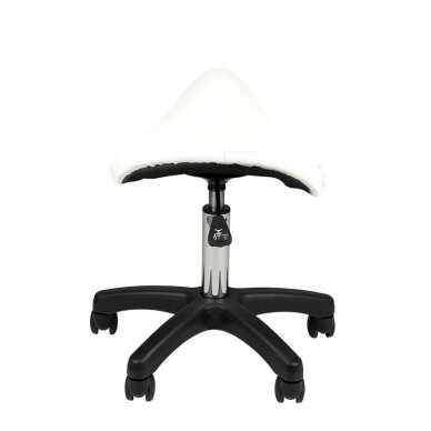 Meistro kėdutė, balno formos AM-301, baltos sp.  3