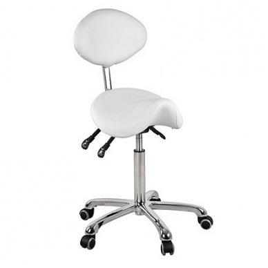 Meistro kėdutė Dynamic Weelko balno formos, baltos sp.