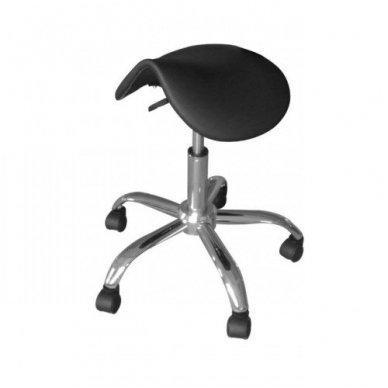 Meistro kėdutė balno formos, juodos sp.