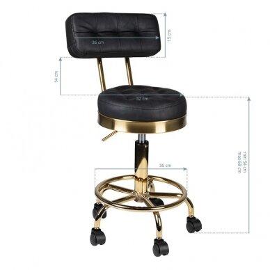 Meistro kėdutė BLACK & GOLD 4