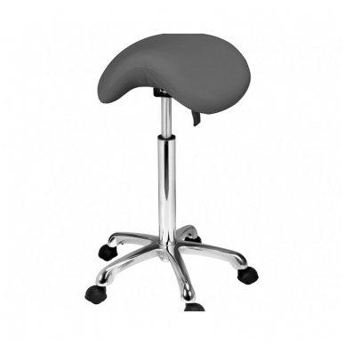 Meistro kėdutė Weelko Organic, balno formos, pilkos sp.