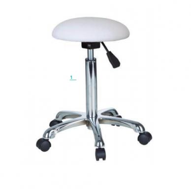 Meistro kėdutė Weelko PRACTI pusrutulio formos, baltos spalvos